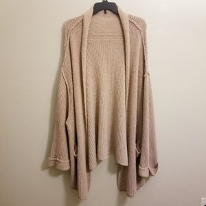 "Free people "" low tide "" rose oversized cardigan"